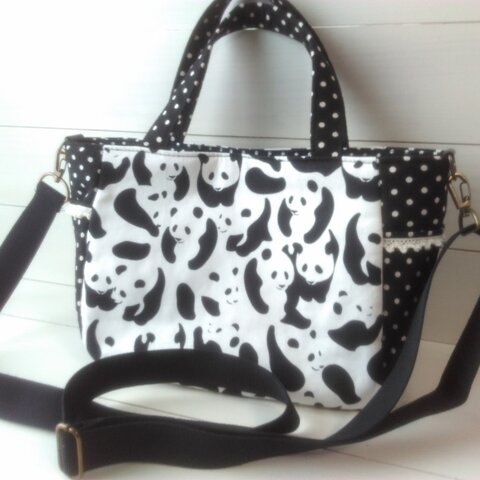 ◆SALE◆ 可愛いパンダの2WAYバッグ