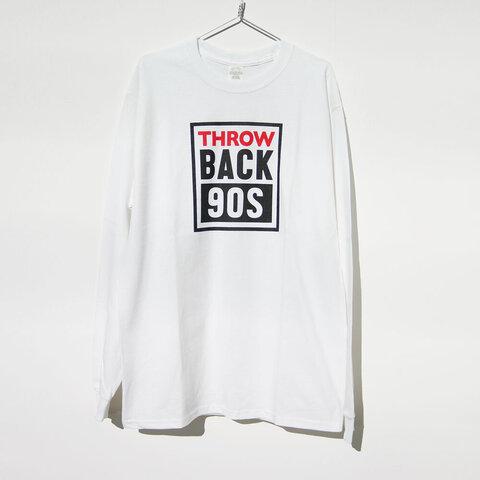 メンズサイズ ロンT【 Mサイズ 】/ 白 /《 THROW BACK 90S 》