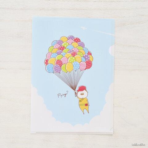 クリアファイル:風船のおじさん