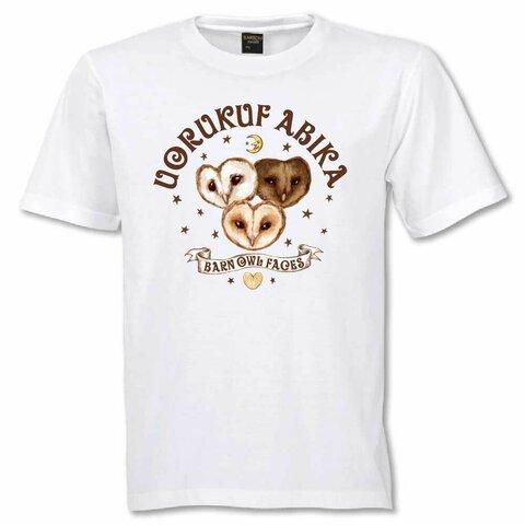 Tシャツ フクロウ かわいい 半袖 メンフクロウフェイス