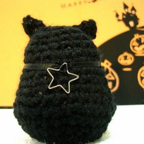 ハロウィン黒猫 大人のあみぐるみ