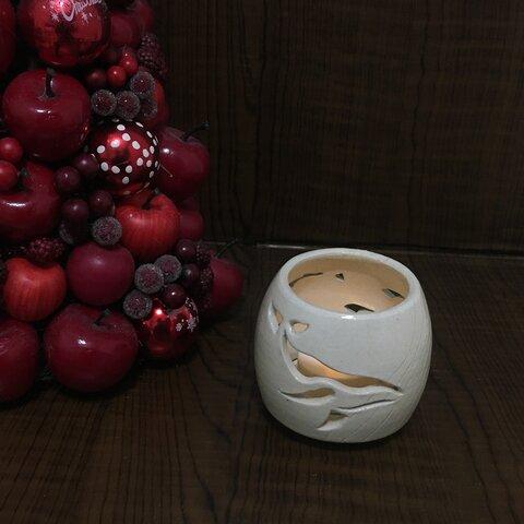 アロマキャンドルポット/茶香炉 (ザトウクジラB プレゼント クリスマス)