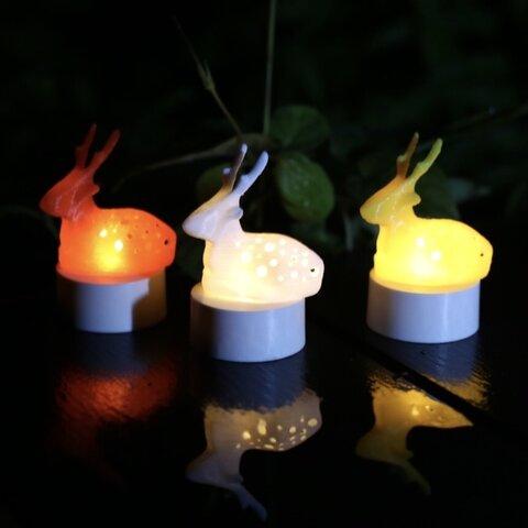 鹿ランプ(白、赤、黄 3色セット)