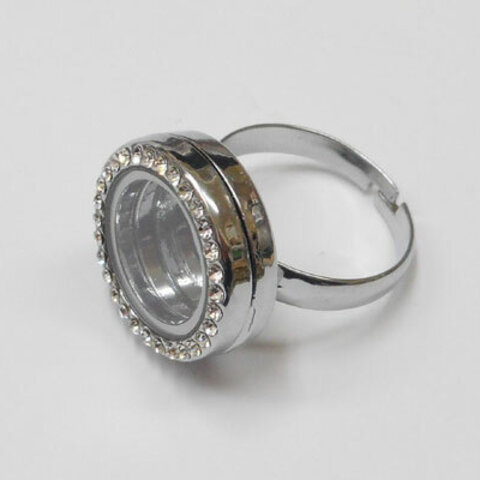 SHAREKI ガラスロケット リング(指輪)Eタイプ シルバー