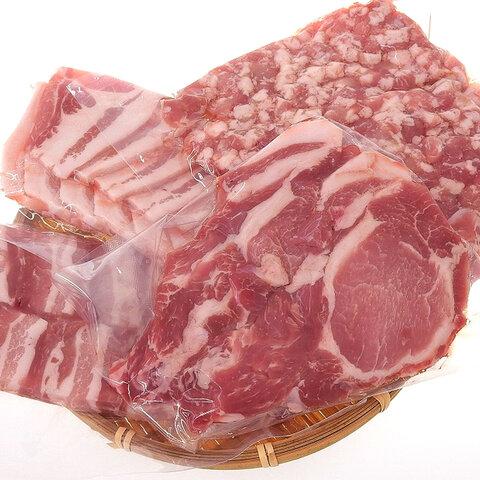 【国産】四元豚 おまかせカット肉セット 約1.4kg
