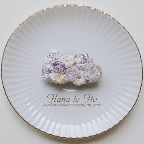[ブローチ] 雪月花 -薄氷- Ver.2
