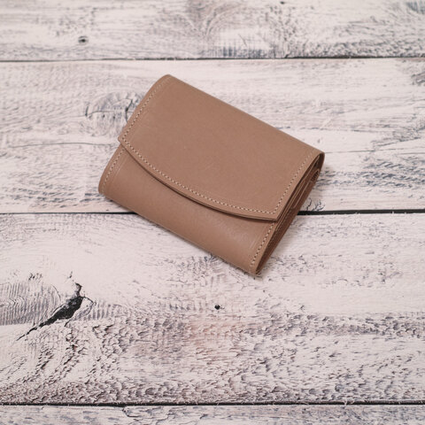 ◎お買い得◎イタリアンレザーのコロンとしたミニ財布(カフェ)