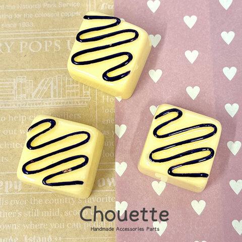 全品送料無料 スイーツチョコレートデコパーツ 3個【クリーム/チョコ】 ハンドメイド  手芸材料 pt-1645