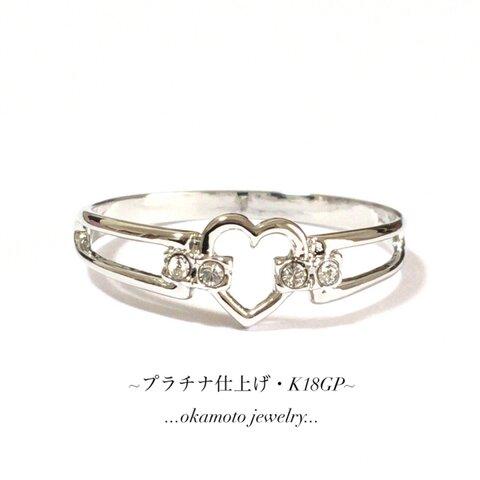 ❤ハートの可愛いダイヤリング