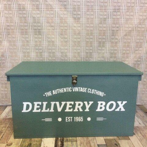 《在庫商品41》りんご箱 宅配ボックス メールボックス ハンドメイド 荷物受取