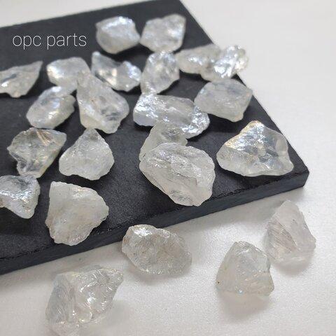 【6個】no30 天然石 水晶 オーロラ クリスタル クォーツ ラフカット ラフロック ビーズ ナゲット