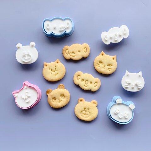 小さい動物の変身クッキー型セット