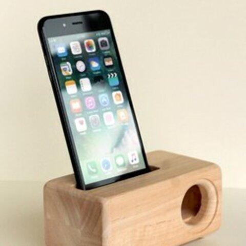 木製iPhoneスピーカー SE2 用Acoustic iPhoneWoodSpeaker
