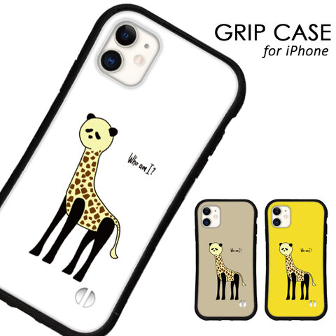 送料無料 iPhoneケース iPhone13 12 pro mini iPhone11 xr xs se 第二世代 iface型 カバー スマホケース グリップケース アイフォン パンダ キリン