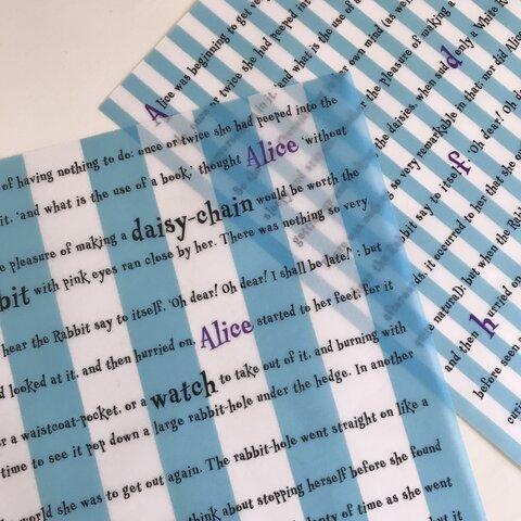 Alice's Storyトレーシングペーパー8枚入り(2柄各4枚)/アリス