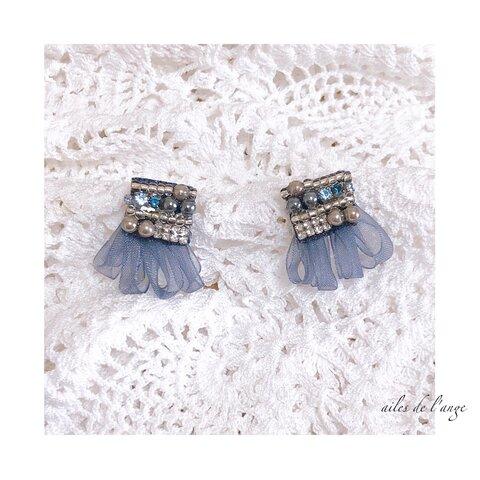 no.770 - orgady ribbon tussel * beads * pearl pi/ea