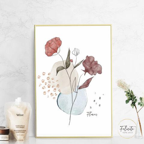 【送料無料】 flower/インテリアポスター アートポスターA4 (サイズアップ可) / illust0051
