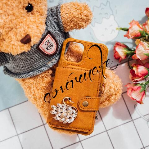 人気 iphone ケース 手帳型 iphone12pro iphone13  SE2 13pro 8plus カードの手帳スマホケース