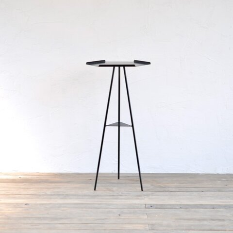 Tripod table - Steeltop High (スチール天板・アイアン3本脚・ハイタイプ)