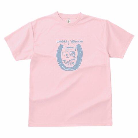 長崎の荷運び馬  ドライ Tシャツ スコットランド・ゲール語 ライトピンク