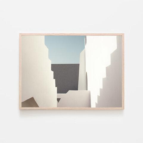 階段と影 / アートポスター カラー ミニマル インテリア 2L〜 陰陽 ミニマリスティック 建築