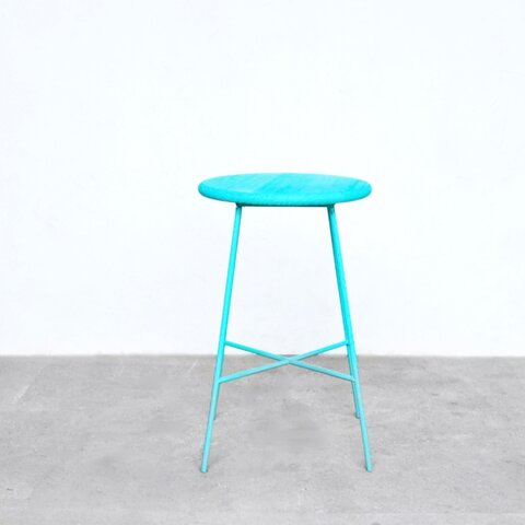 iron color stool blue