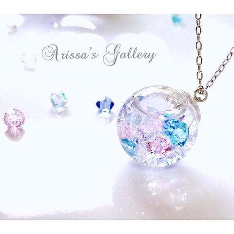 *♡人魚姫の落し物ネックレス♡*紫陽花*スノードーム*