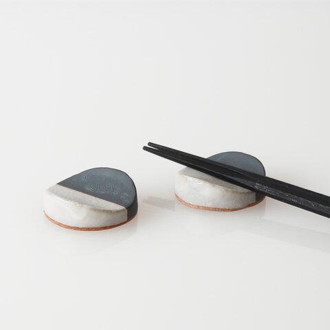 TSUKI (YUKI)カトラリーレスト(瓦食器・箸置き・2個セット)
