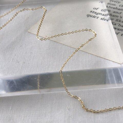 1m[ゴールド] 18kgp 小豆チェーン1mm極細  メタルチェーン c005