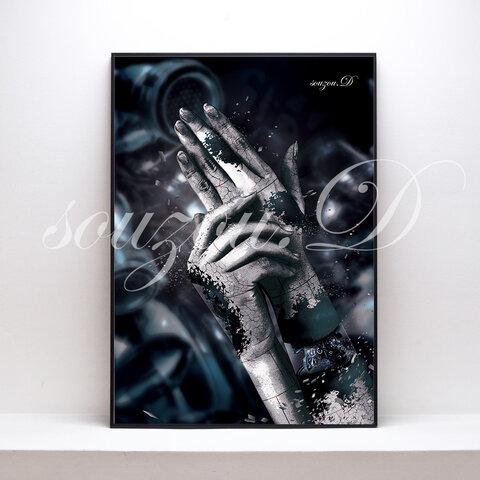 A3グラフィックアートポスター「hand」