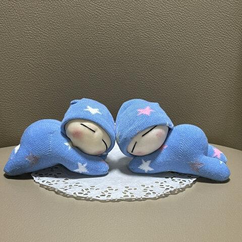 双子ちゃんうつぶせ寝 赤ちゃん人形 ぬいぐるみ 癒しグッズ 送料無料