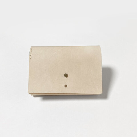 牛革の小さなお財布(ナチュラル×ブラック)