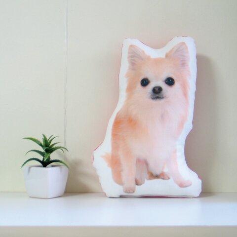 犬 猫 ペット 動物 チワワ クッション ぬいぐるみ インテリア メモリアル プレゼント オーダーメイド 画像 写真 名前 無地Bn