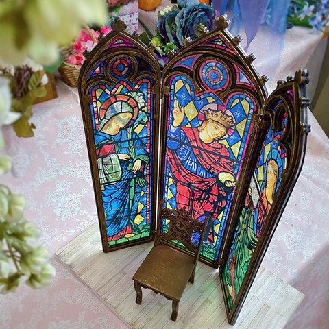 【予約販売・3ヶ月以内に出荷】オビツ11・ブライス用 ゴシック調・教会の窓