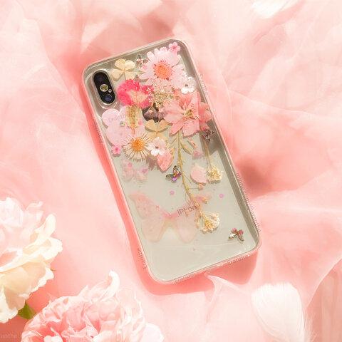 フレッシュな香りが漂う 押し花 スマホケース 全機種対応 iPhone Xperia Galaxy AQUOS