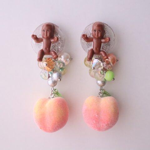 Born from peach!! 桃&マイケル ピアス イヤリング