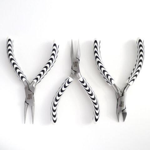 再販【単品】ゼブラ柄 アクセサリー工具「ニッパー」「平ペンチ」「丸ペンチ」
