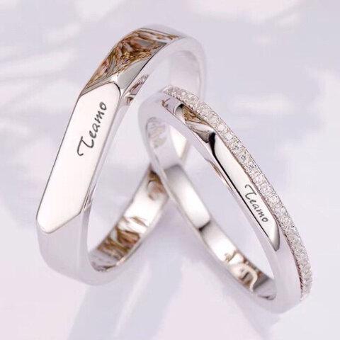 【✨人気✨】ペアリング【刻印可】シンプル カップル 結婚指輪
