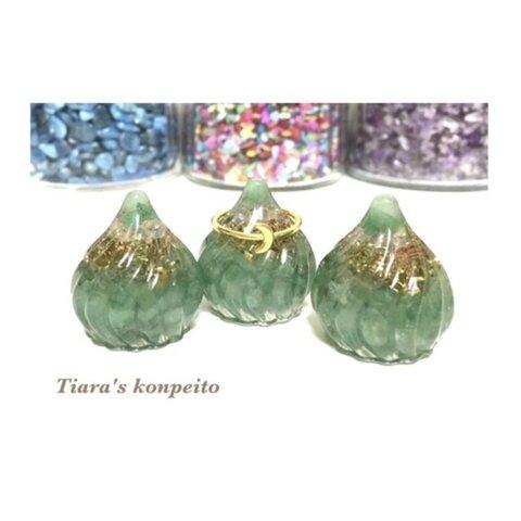 健康・心の癒し/グリーンアベンチュリンの宝珠 オルゴナイト