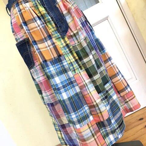 【暑い夏を乗りきろお~まつり】つぎはぎだらけなギャザースカート★バステル
