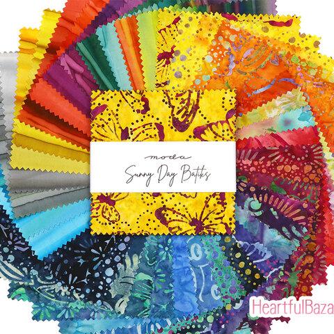 USAコットン moda charmpack 40枚セット Sunny Day Batiks 生地 布 バティック