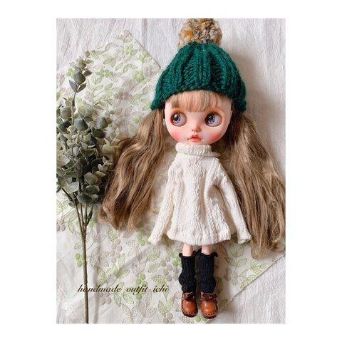 No.77 Winter collection /nukunukuセット🧶 green ブライス アウトフィット