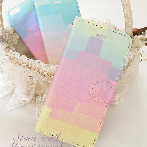セール!iPhone5/5s/SE Stone wall 手帳型スマートフォンケース