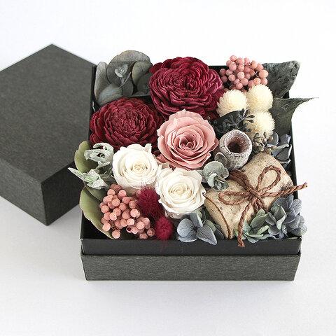 Box Garden 〜フラワーボックス・箱庭〜(バラ/モーブピンク) HBL-BF03