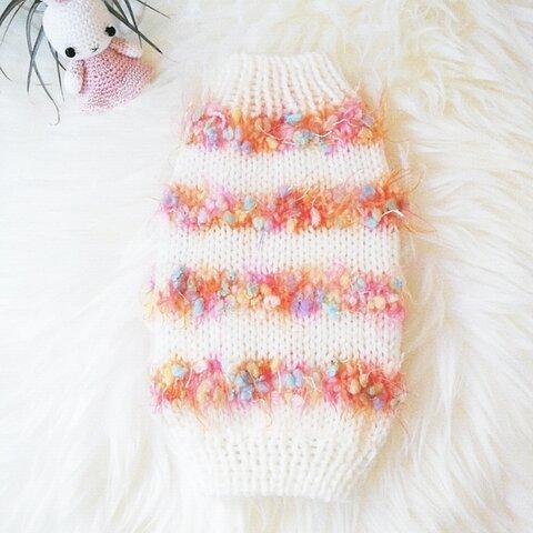 S🧡101犬☆猫用手編みセーター