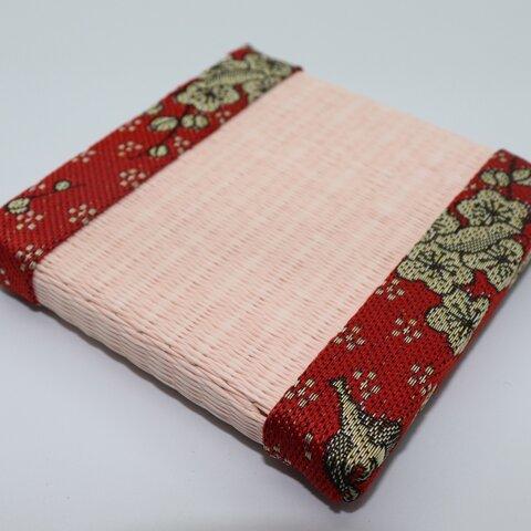 デザイン畳 ミニ畳 ニ等 約10×10cm 和風 インテリア ピンクござ
