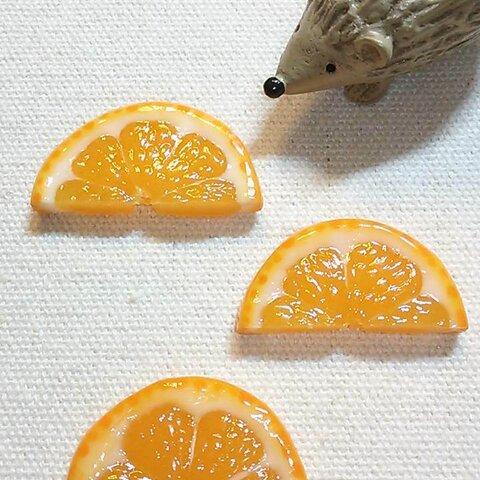 再販22*オレンジなブローチ