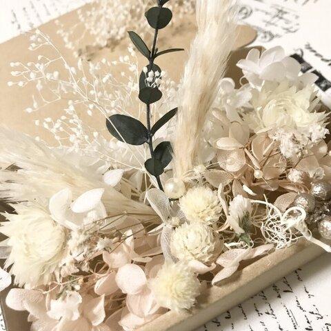マカロンマシュマロベージュシルバーデージー*花材詰め合わせ*花材セット*ドライフラワー花材