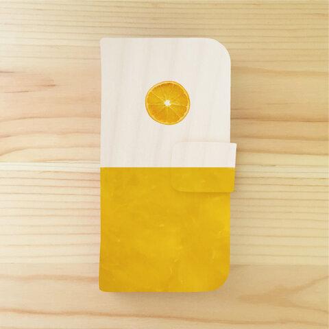 マーマレードの絵柄の、iPhoneケース(手帳型)