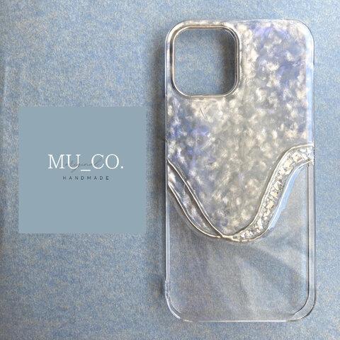 【iPhone13series対応】 MU_CO. original nuance iPhone case  【gleam】グリーム  ハーフペイント